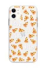 FOONCASE iPhone 12 hoesje TPU Soft Case - Back Cover - Pizza / Food