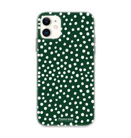 FOONCASE Iphone 12 - POLKA COLLECTION / Donker Groen