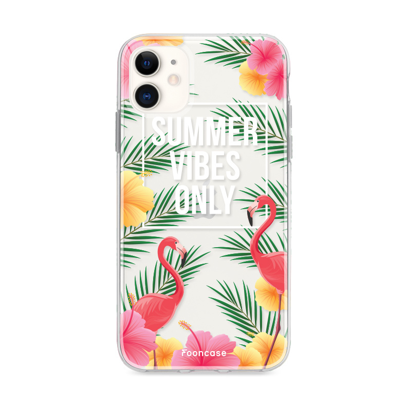 FOONCASE iPhone 12 hoesje TPU Soft Case - Back Cover - Summer Vibes Only