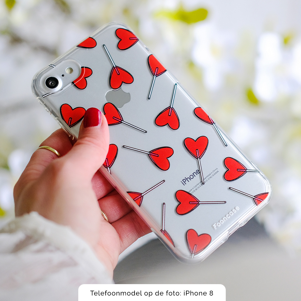 FOONCASE iPhone 12 hoesje TPU Soft Case - Back Cover - Love Pop