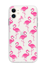 FOONCASE iPhone 12 hoesje TPU Soft Case - Back Cover - Flamingo