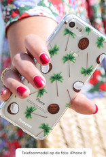 FOONCASE iPhone 12 hoesje TPU Soft Case - Back Cover - Coco Paradise / Kokosnoot / Palmboom
