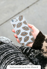 iPhone 12 hoesje TPU Soft Case - Back Cover - Rebell Leopard Lips (leopard lippen)