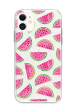 FOONCASE iPhone 12 hoesje TPU Soft Case - Back Cover - Watermeloen