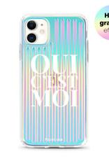 FOONCASE iPhone 11 hoesje TPU Soft Case - Back Cover - Oui C'est Moi (Holographic)