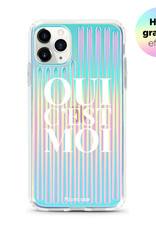 FOONCASE iPhone 11 Pro Max hoesje TPU Soft Case - Back Cover - Oui C'est Moi (Holographic)