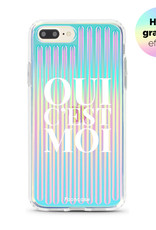 FOONCASE iPhone 8 Plus  hoesje TPU Soft Case - Back Cover - Oui C'est Moi (Holographic)