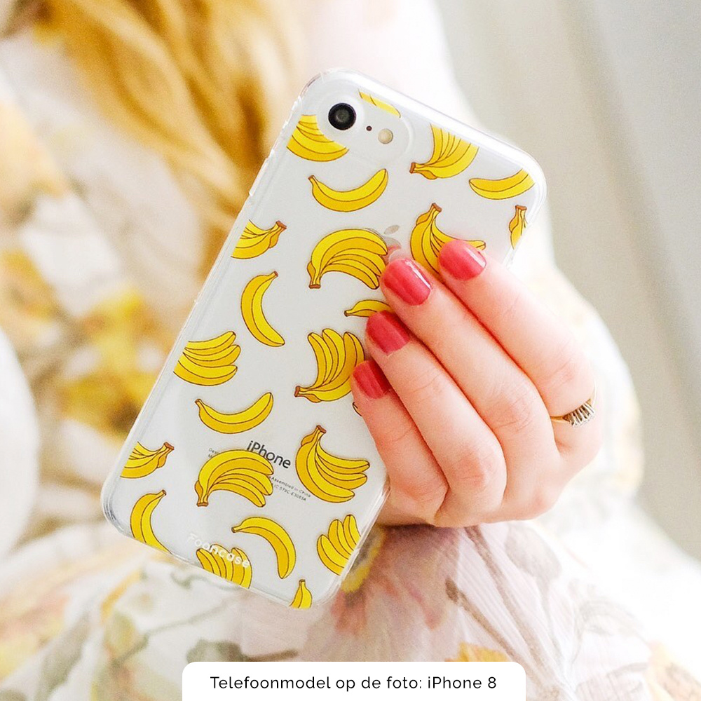 FOONCASE iPhone 12 Mini hoesje TPU Soft Case - Back Cover - Bananas / Banaan / Bananen