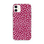 FOONCASE iPhone 12 Mini - POLKA COLLECTION / Bordeaux Rot