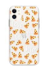 FOONCASE iPhone 12 Mini hoesje TPU Soft Case - Back Cover - Pizza / Food
