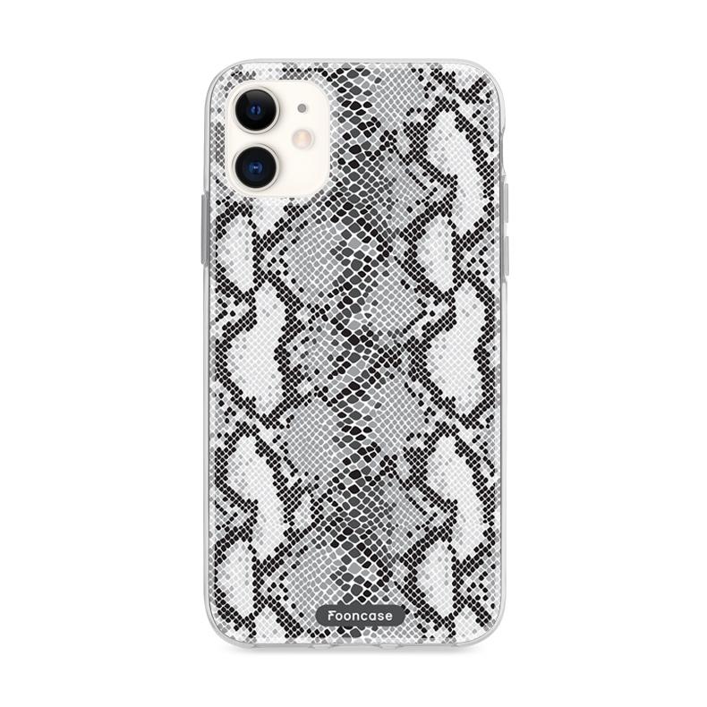 FOONCASE iPhone 12 Mini hoesje TPU Soft Case - Back Cover - TPU Soft Case - Back Cover telefoonhoesje TPU Soft Case - Back Cover - Slangen print