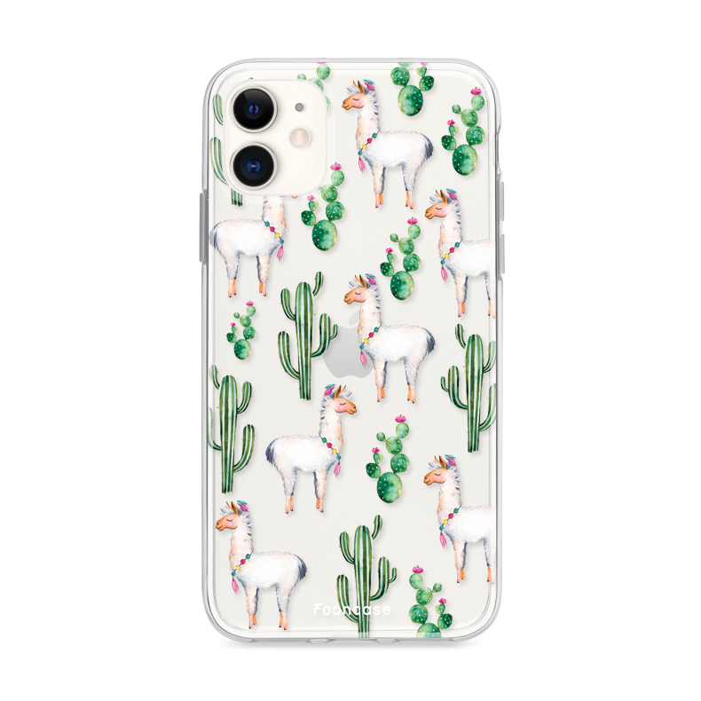 FOONCASE iPhone 12 Mini hoesje TPU Soft Case - Back Cover - Alpaca / Lama