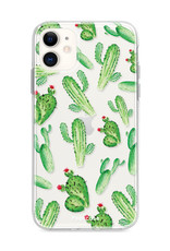 FOONCASE iPhone 12 Mini hoesje TPU Soft Case - Back Cover - Cactus