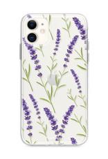 FOONCASE iPhone 12 Mini hoesje TPU Soft Case - Back Cover - Purple Flower / Paarse bloemen