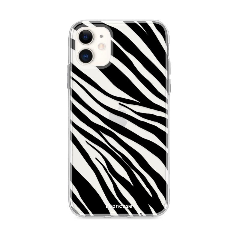 FOONCASE iPhone 12 Mini hoesje TPU Soft Case - Back Cover - Zebra print
