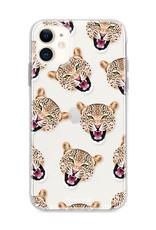 FOONCASE iPhone 12 Mini hoesje TPU Soft Case - Back Cover - Cheeky Leopard / Luipaard hoofden