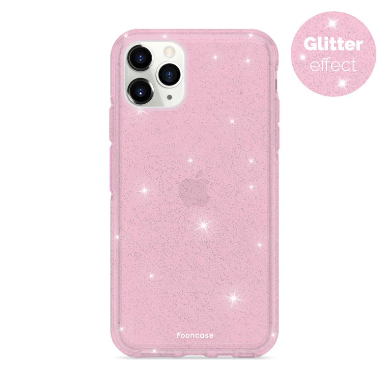 FOONCASE iPhone 11 Pro Handyhülle - Glamour Pink (Glitters)