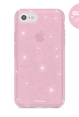 FOONCASE iPhone 8 hoesje TPU - Kerst - Christmas Glamour Roze (Glitters)