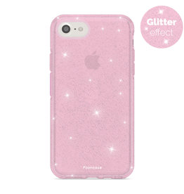 FOONCASE iPhone SE (2020)- Christmas Glamour Pink (Glitters)