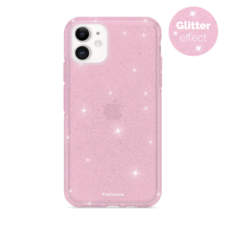 FOONCASE iPhone 12 Case - Christmas Glamour Pink (Glitters)