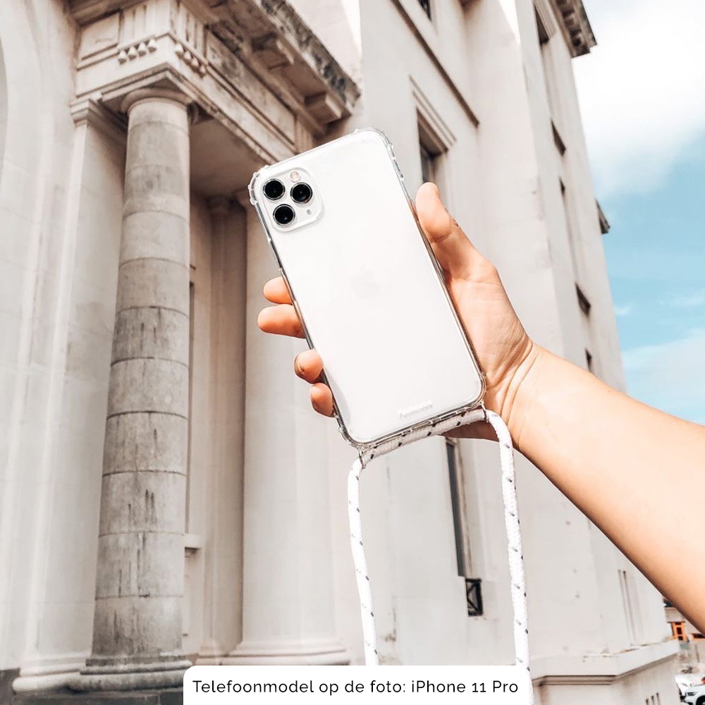 FOONCASE FESTICASE Samsung Galaxy A51 Telefoonhoesje met koord (Roze) TPU Soft Case - Transparant