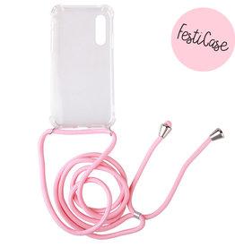 FOONCASE Huawei P30 - Festicase Roze (Telefoonhoesje met koord)