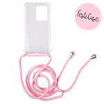 FOONCASE Samsung Galaxy S20 Ultra - Festicase Pink (Phone case Pink cord)