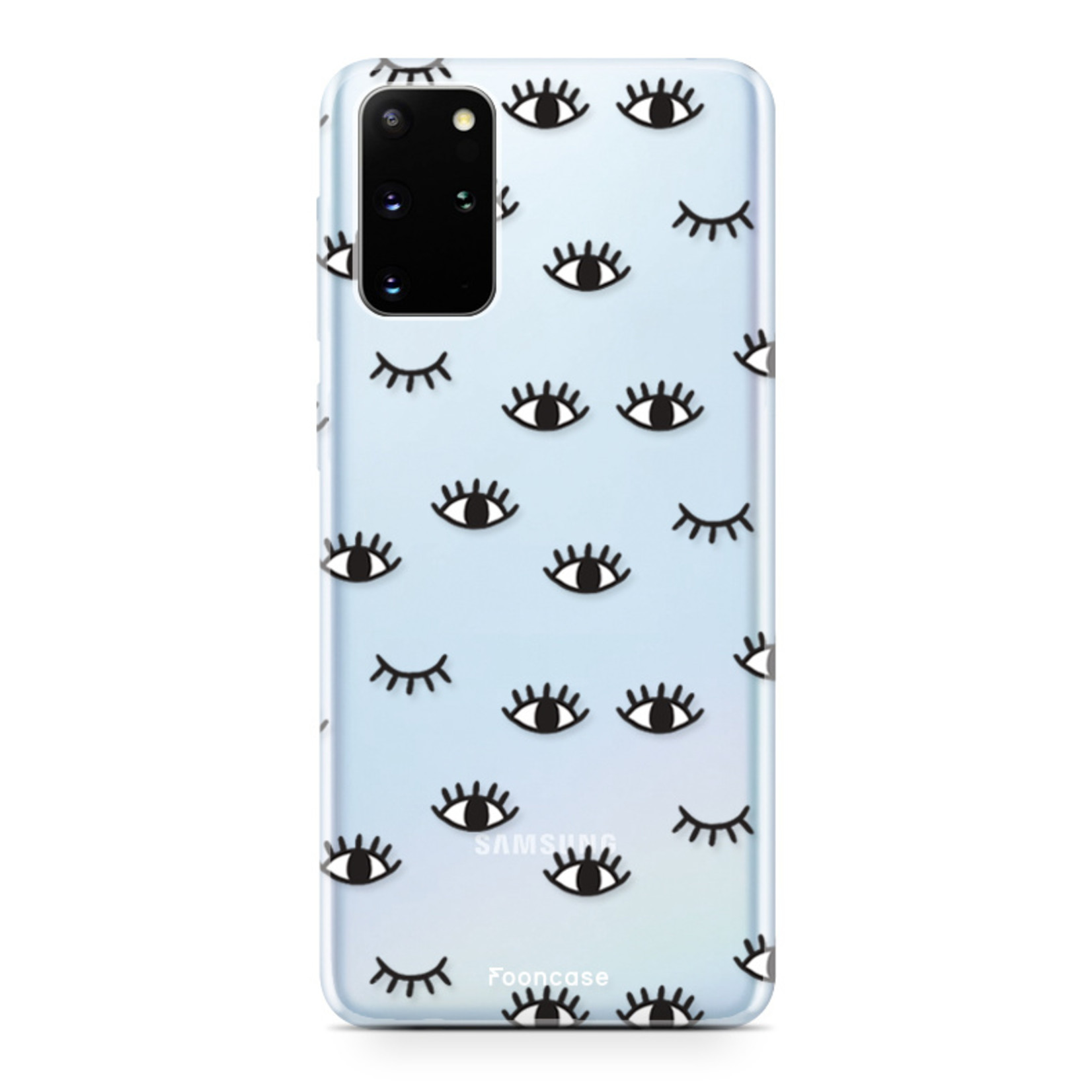 FOONCASE Samsung Galaxy S20 FE hoesje TPU Soft Case - Back Cover - Eyes / Ogen