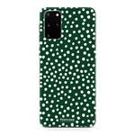 FOONCASE Samsung Galaxy S20 FE - POLKA COLLECTION / Donker Groen