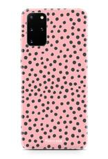 FOONCASE Samsung Galaxy S20 FE hoesje TPU Soft Case - Back Cover - POLKA COLLECTION / Stipjes / Stippen / Roze