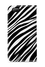 FOONCASE iPhone 5/5s hoesje - Bookcase - Flipcase - Hoesje met pasjes - Zebra print