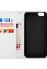 FOONCASE iPhone 5/5s hoesje - Bookcase - Flipcase - Hoesje met pasjes - Luipaard / Leopard print
