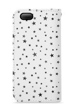FOONCASE Iphone 5 / 5S hoesje - Bookcase - Flipcase - Hoesje met pasjes - Stars / Sterretjes