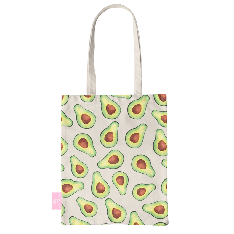 FOONCASE BEACHLANE - Katoenen tasje - Canvas Tote Bag Shopper - Avocado print - Schoudertas / Boodschappen tas