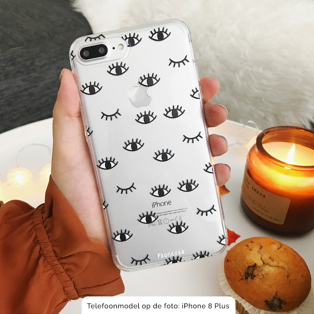 FOONCASE Samsung Galaxy S21 hoesje TPU Soft Case - Back Cover - Eyes / Ogen