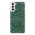 FOONCASE Samsung Galaxy S21 - POLKA COLLECTION / Dark green