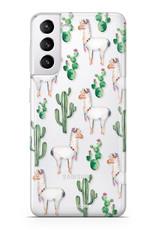 FOONCASE Samsung Galaxy S21 Handyhülle - Lama