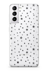 FOONCASE Samsung Galaxy S21 hoesje TPU Soft Case - Back Cover - Stars / Sterretjes