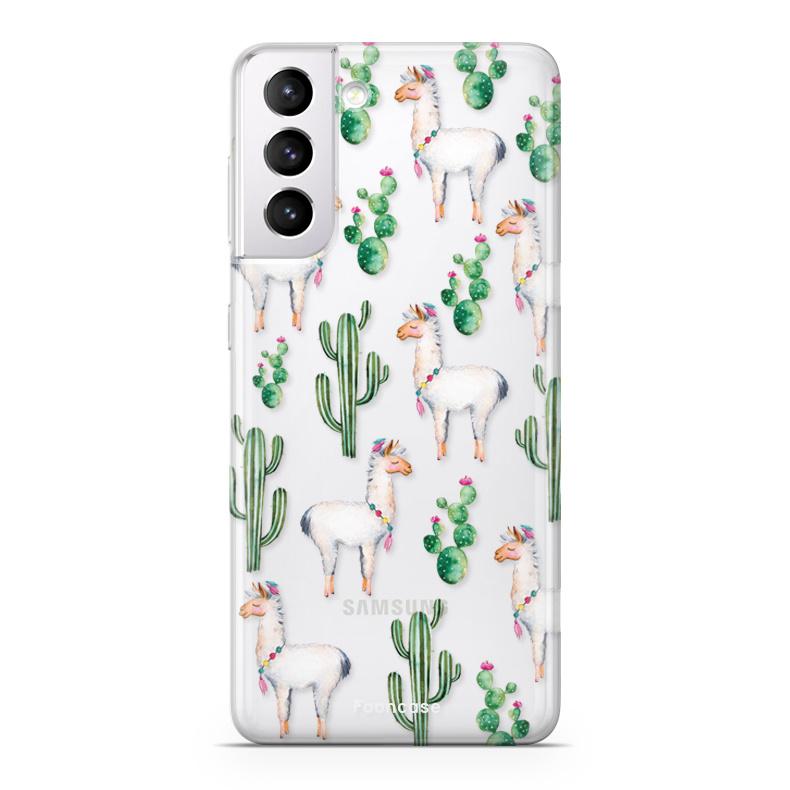 FOONCASE Samsung Galaxy S21 Plus Handyhülle - Lama