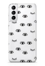 FOONCASE Samsung Galaxy S21 Plus hoesje TPU Soft Case - Back Cover - Eyes / Ogen