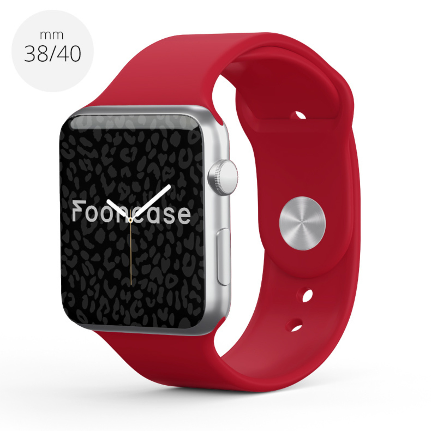 FOONCASE Apple Watch Series (1 t/m 6 / SE) - Red velvet - 38/40mm
