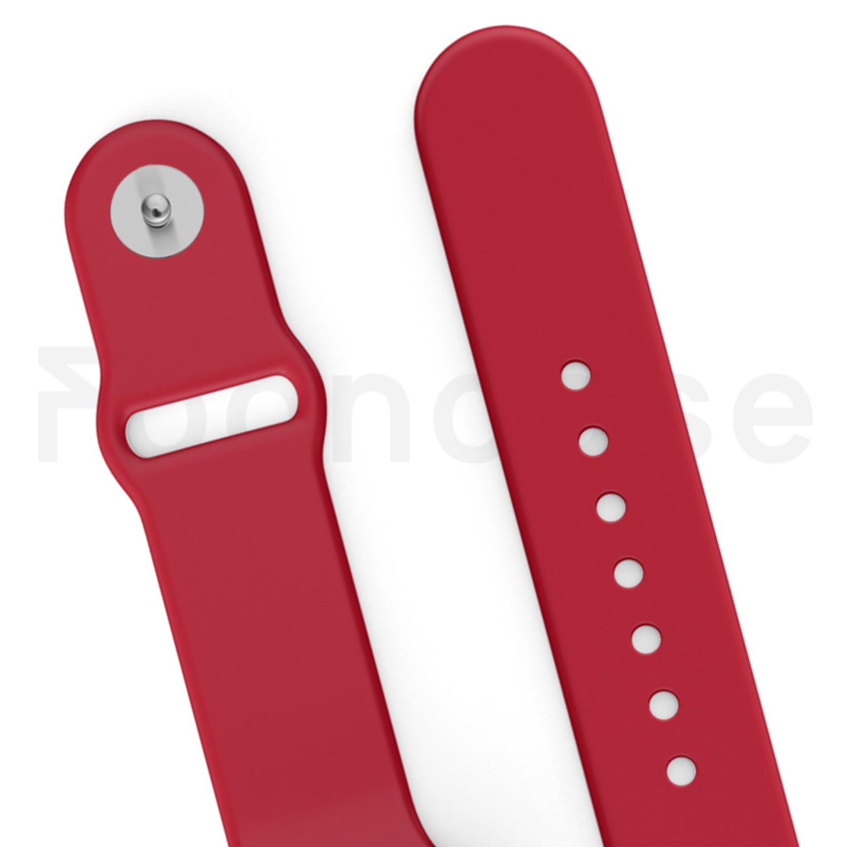FOONCASE Apple Watch Series (1 t/m 6 / SE) - Red velvet - 42/440mm