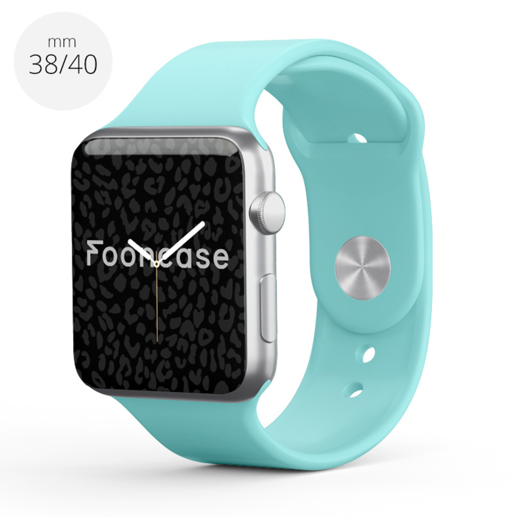 FOONCASE Apple Watch Series (1 t/m 6 / SE) - Aqua - 38/40mm