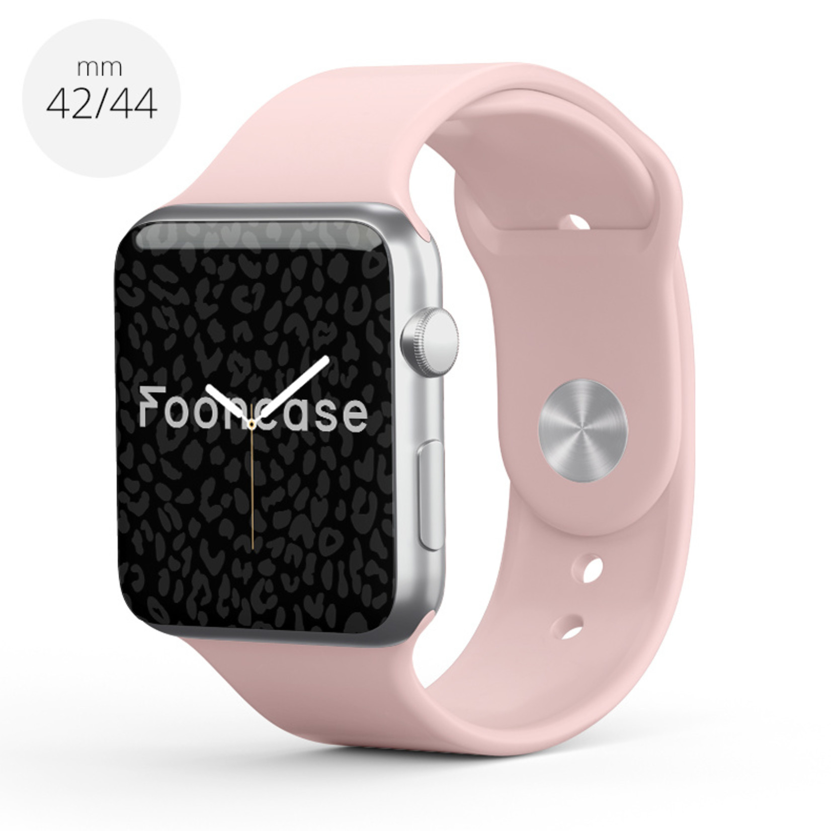 FOONCASE Apple Watch Series (1 t/m 6 / SE) - Oud Roze - 42/44mm