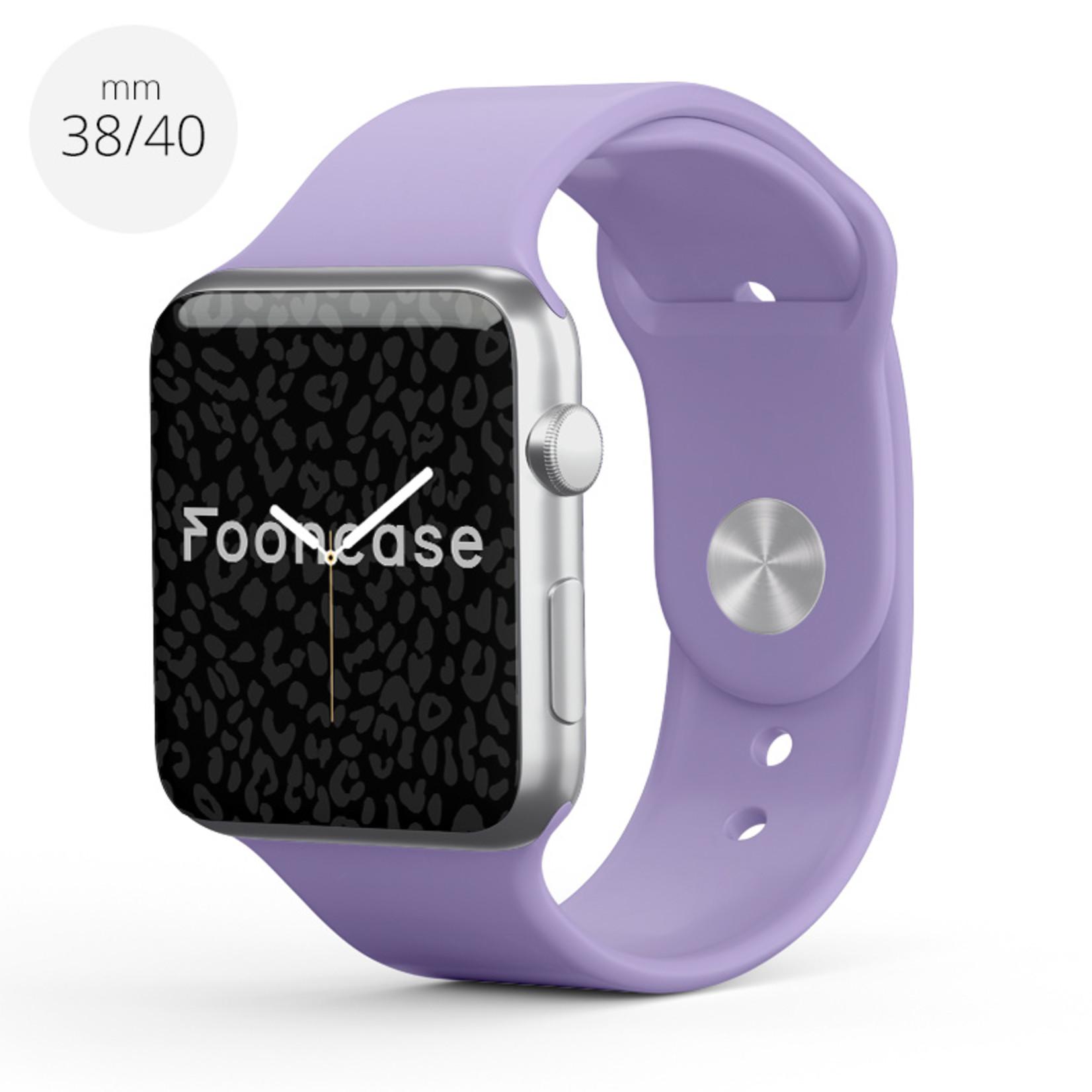 FOONCASE Apple Watch Series (1 t/m 6 / SE) - Pastelllila - 38/40mm