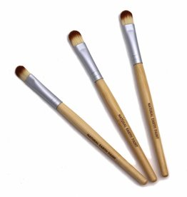 Drie gerecycelde bamboe verfkwasten