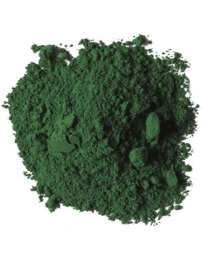 Natural Earth Oil paint made of earth and mineral pigments Emerald Green.