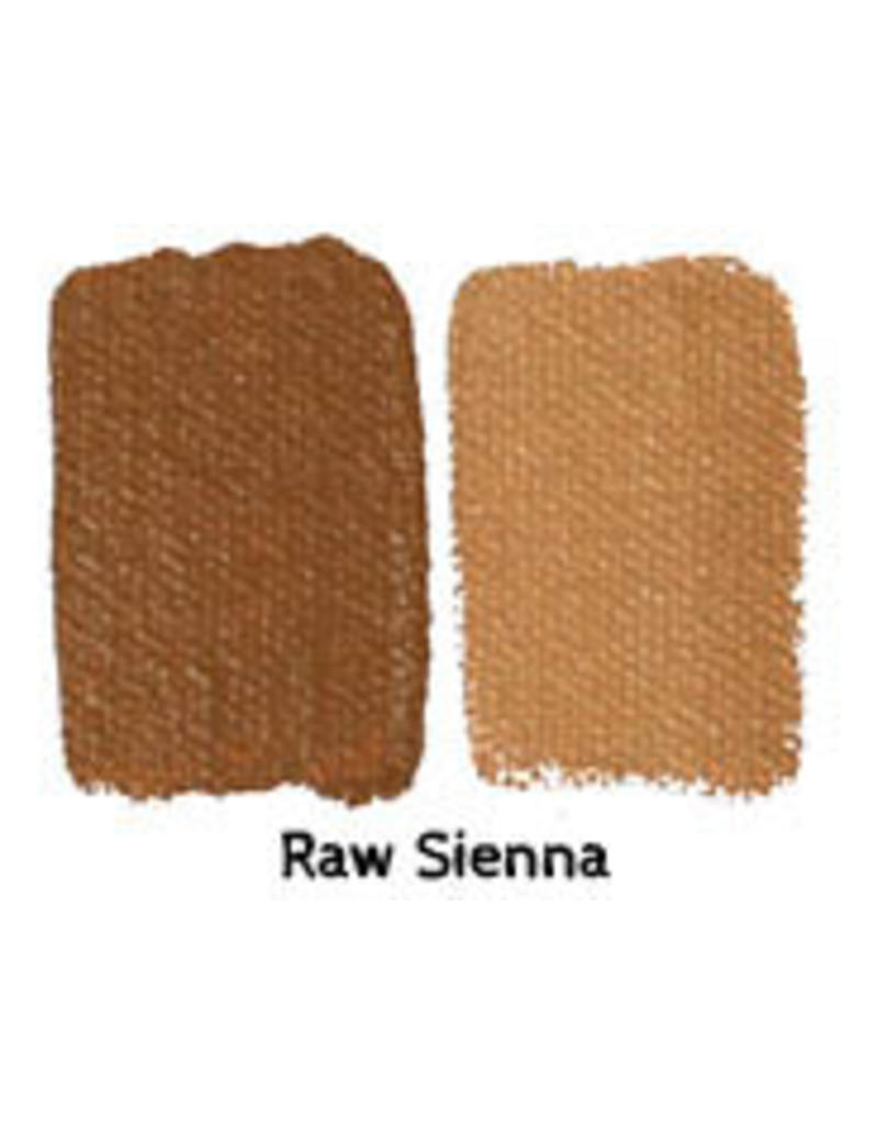 Natural Earth Oil paint made of earth and mineral pigments Raw Sienna.