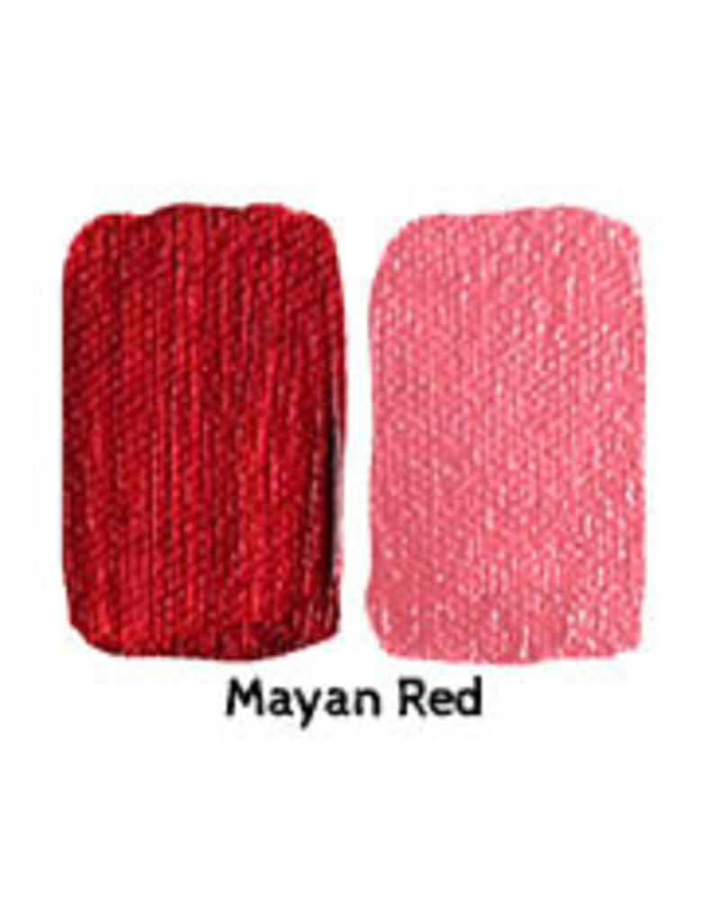 Natural Earth Oil paint made of earth and mineral pigments Mayan Red.