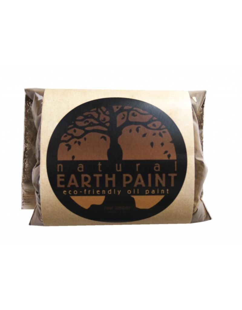 Natural Earth Oil paint made of earth and mineral pigments Raw Umber.